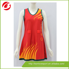 American Style custom high quality women netball dress/ sublimation netball jersey