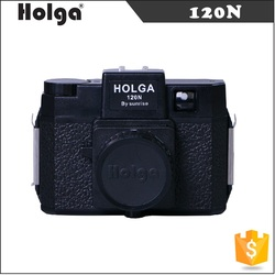 China Factory Direct Sale Classic Holga 120N Medium Format Film Lomo Camera Toy Mini Plastic Instant Camera with Lens