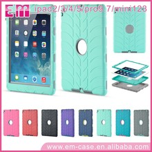 For iPad MIni 3in1 Hybird Combo Case For iPad Shockproof Silicone Case