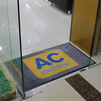 Oriental Printed Logo Entrance Carpet