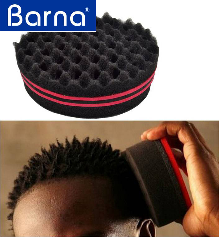 DIY hair curler maker sponge,barber curly hair sponge,Africa hair roller for men women