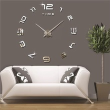 Different types of wall clocks DIY 3D Wall Clock Home Decor Bell Cool Mirror Stickers Art Watch