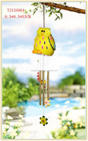 ceramic owl wind-bell with solar powered led lights wholesale