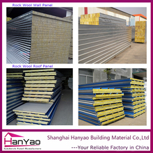 Customized Color steel Panel Sandwich Rockwool Sandwich Panels for wall and Roof