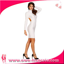 Continued Selling white long sleeves designer backless bodycon dresses