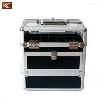 Multipurpose Fashionable Metal Cosmetic Case Nail Polish Case Storage boxes