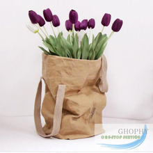 NEW TREND!Multifunction Many Style Washable Kraft Plant Paper Bag Wholesale Paper Tote Bag,Eco-friendly And Recyclable