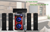 5.1 channel multimedia speaker with FM USB SD Remote control