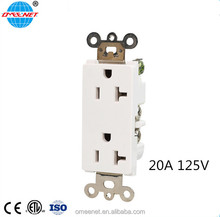 PC Material Universal Wall Mounted American Electrical Plugs & Sockets