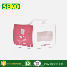 Best selling paper box for cakes,food packaging paper box with window