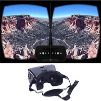 Portable Plastic Version 3D VR Glasses Virtual Reality DIY Video Glasses with Magnetic Switch Belt for All 3.5 ~ 6.0Svr headset
