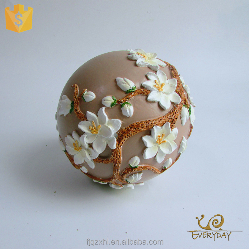 China Import Items Decor for Home Decor and Garden Decor Accessory Souvenir Gift Craft Resin Sphere