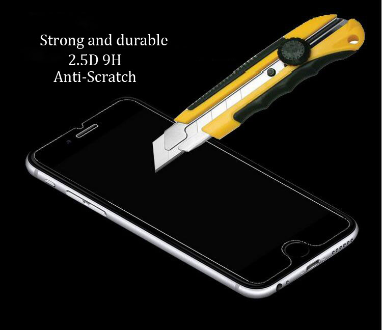 Anti scratch 9H tempered glass screen protector for iPhone 7