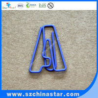 Office stationery letter shaped paper clips