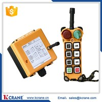Telecontrol uting F24-6S industrial Crane Radio Remote Control System with 6 buttons single speed