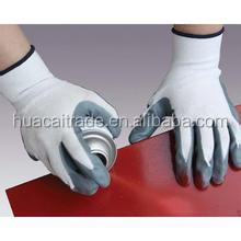 13GuagePolyester Kitted Seamless Nitrile Coated ESD Gloves for anti-alkali
