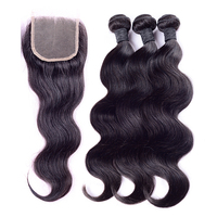 "Fast delivery 16""closure +16 18 20 inch cheap 2 part 100% virgin brazilian lace closure"