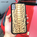 New styles for iphone x leather case phone cover real python skin luxury styles best selling