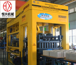 Professional Plant X500 Fiber-industrial Slag Concrete Block Making Machine Price Made in Italy
