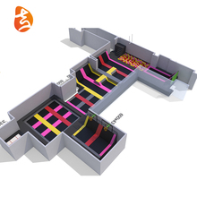 New soft design colorful big indoor trampolines for gym park equipment for sale