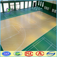 PVC Sports Flooring For Indoor Basketball Court Use Durable using low price indoor pvc sports flooring