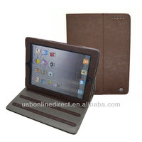 High quality Waterproof PU Case for iPad Air with fold,pu leather stand case for ipad air,100% leather pu case for ipad air