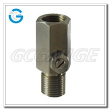High quality all stainless steel pressure gauge snubber