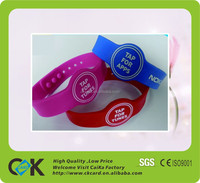 Promotional item full color printing silicone wristband,silicone rubber wristband watch