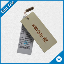 Good Quality Fancy Custom Clothing Hang Tag Famous Brands