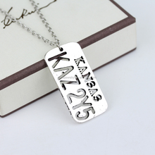 Supernatural KANSAS KAZ 2Y5 Necklace Letter Logo Pendant Castiel Wings Angel Wicca Jewelry