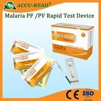 Malaria pv/pf test cassette for medical diagnostic