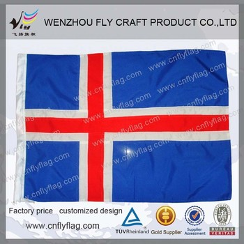 Polyester national flag
