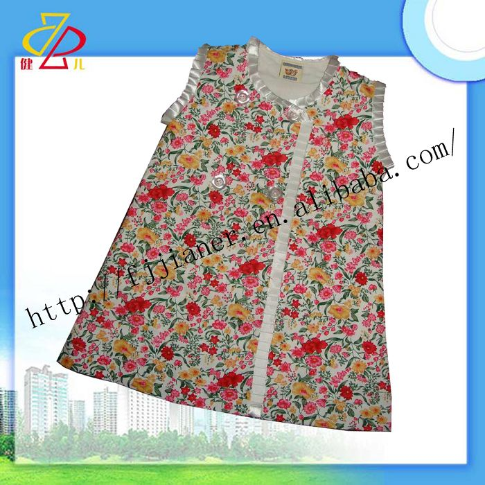 new products 100%cotton fashion kids girl dress for summer