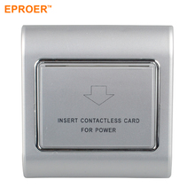 EP-A301 110V/220V 40A White Hotel Room Electric RFID Key Card Power Energy Saving <strong>Switch</strong>