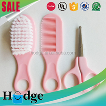 Girls pink 3 sets baby grooming kit hair brush and comb set
