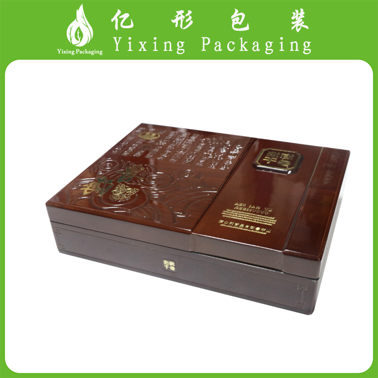 strong wooden packaging box for souvenir storage and display