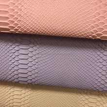 Matte Surface Snake Skin emboss PVC artificial leather for ladies handbags usage