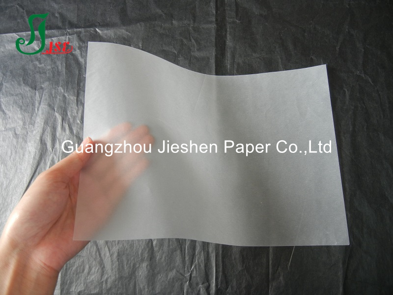 2016 hot sale food grade 50g clear vellum tracing paper