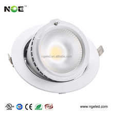 Good quality led commercial downlight adjustable 38w led shop down light with 3 years warranty