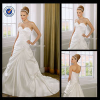 WA00229 wholesale elegant sale fancy new satin sexy sweetheart neck a-line sweep train with wedding dress online shop