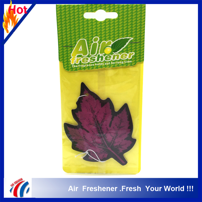 2016 popular red maple leaf shape private label air freshener for car, wholesale car air freshener in bulk