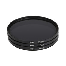 Neutral Density ND 2 4 8 Lens Filter Circular Protective with Bag for Camera