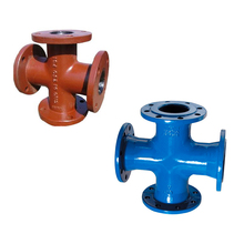 BS EN545 potable Water BS EN598 sewage wastewater piping fittings Ductile Cast Iron All flange tee equal cross