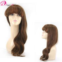 Wholesale price fashion natural wave brazilian human hair lace front wig
