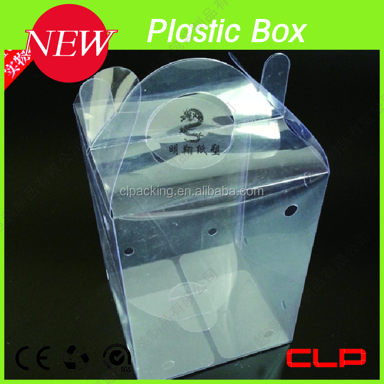 high transparent plastic poster storage box