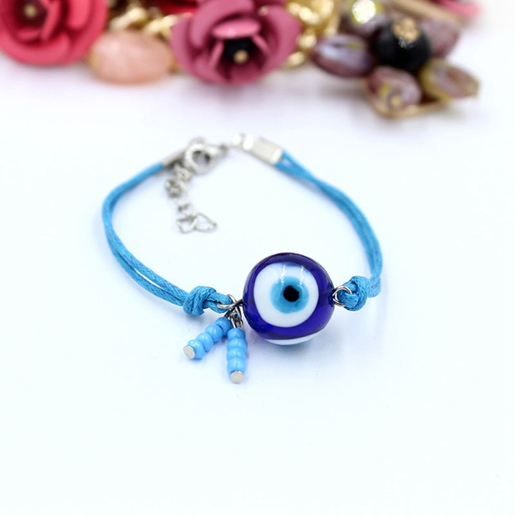 Website Hot Sale Trukish Blue Rope Evil Eye Bead Bracelet In Stock 2018