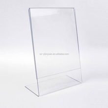 "L type tabletop clear a4 acrylic display stand 3/8"" thickness"
