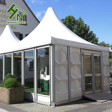 Easy To Assemble Gazebos Pagoda Tent Clear Span Competitive Price Glass Walls Tent With Glass Walls On One Side
