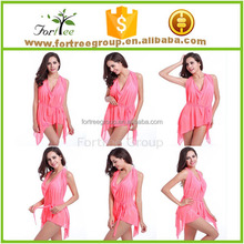 Wholesale summer beachwear sexy ladies cover up mature woman bikini swimwear