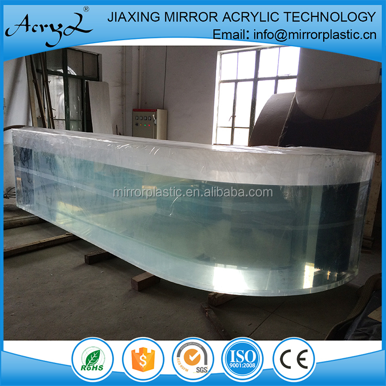 Custom L Shape Acrylic Aquarium Fish Tank for Hotel , Restaurant